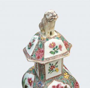 chinese export porcelain baluster vases famille rose enamels