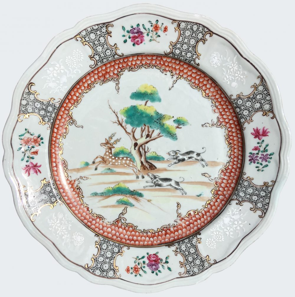 Famille rose Porcelain Qianlong (1735-1795), circa 1740-1750, China