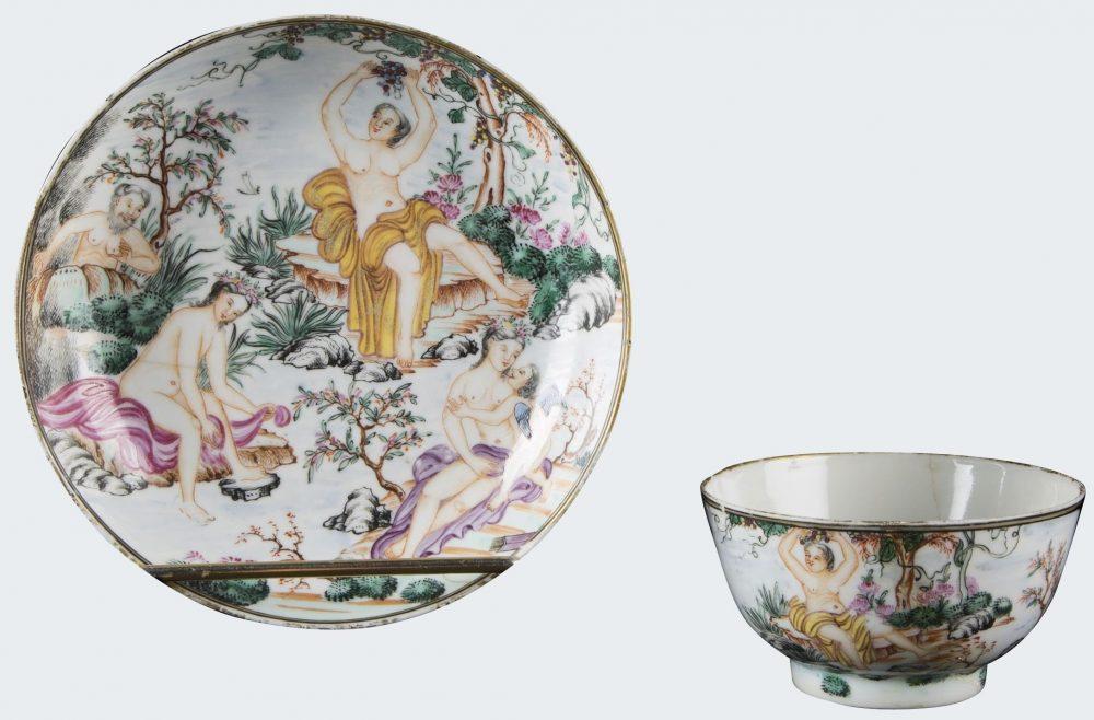 Famille rose Porcelain Qianlong (1736-1795), vers 1745, China