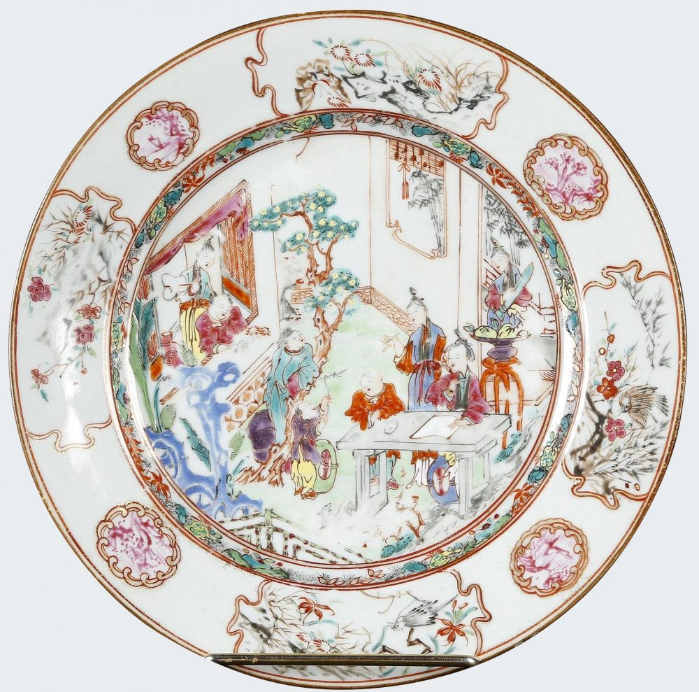 Famille rose Porcelain Qianlong (1736-1795), vers 1740, China