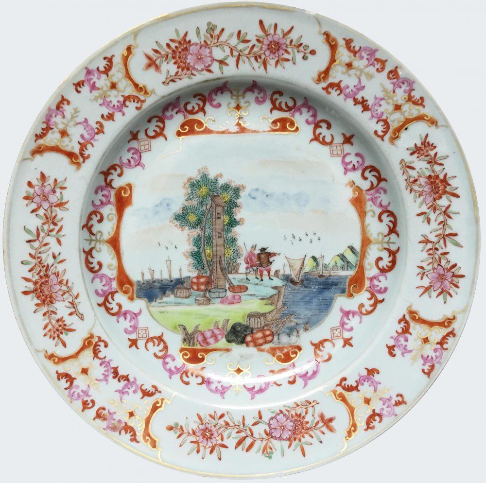 Famille rose Porcelain Qianlong (1736-1795), circa 1740, China