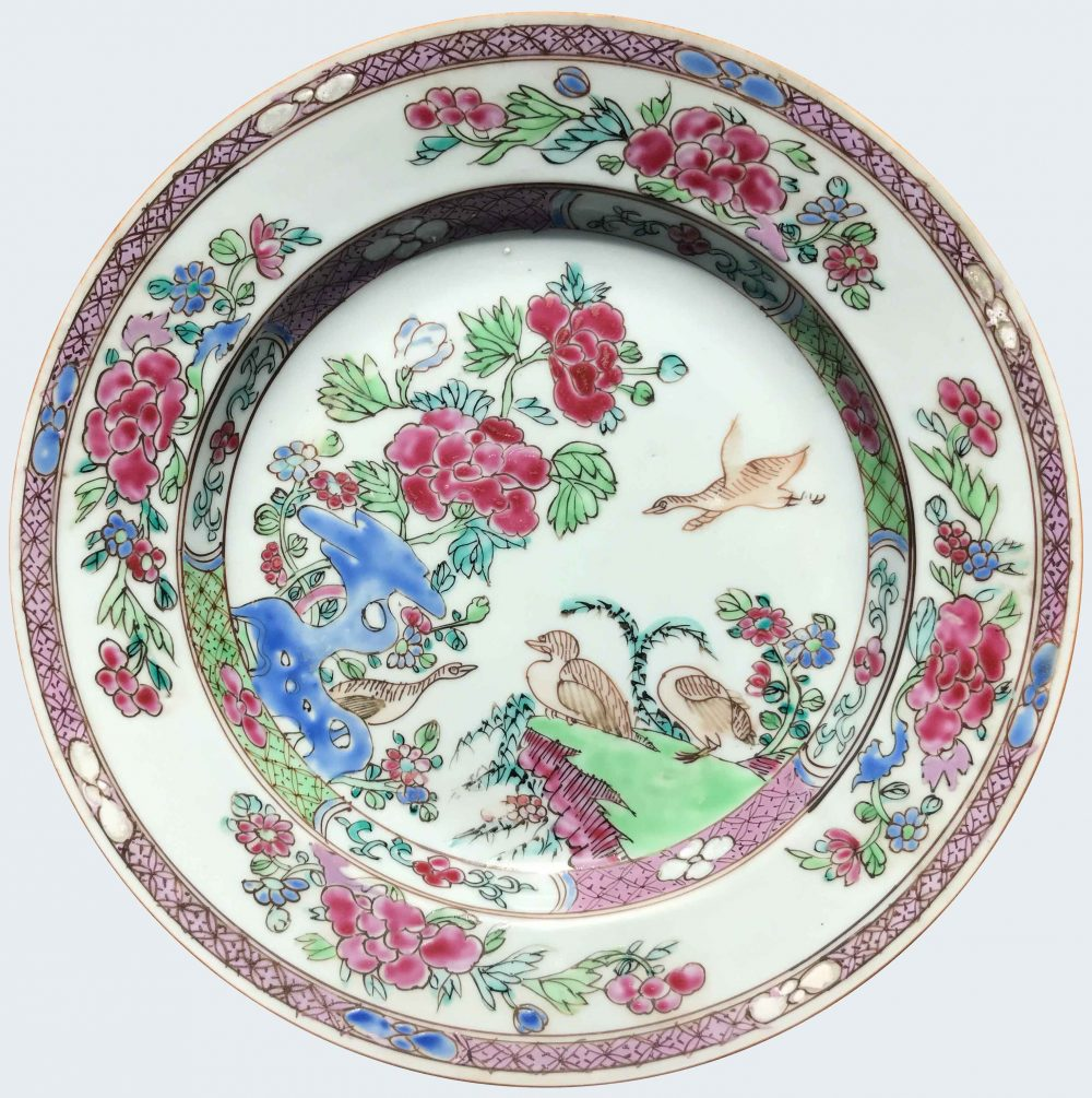Famille rose Porcelain Late Yongzheng (1723-1735), early Qianlong (1736-1795), circa 1730-1750, China