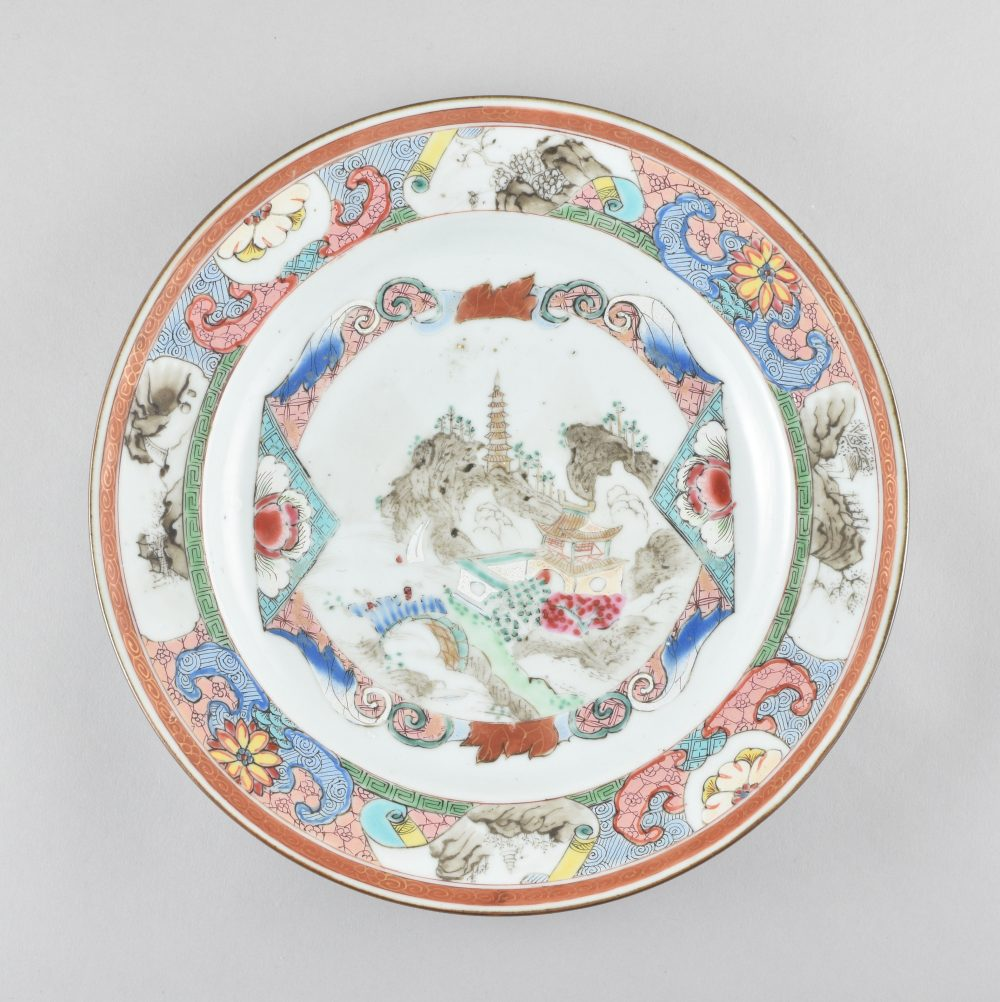 Famille rose Porcelain Yongzheng (1723-1735) or Qianlong period (1736-1795), circa 1730-1740, China