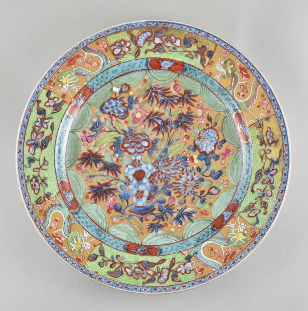 Porcelain The porcelain Qianlong period (173§-1795), the English decoration ca. 1780/1830, China (with a later English Over-decoration